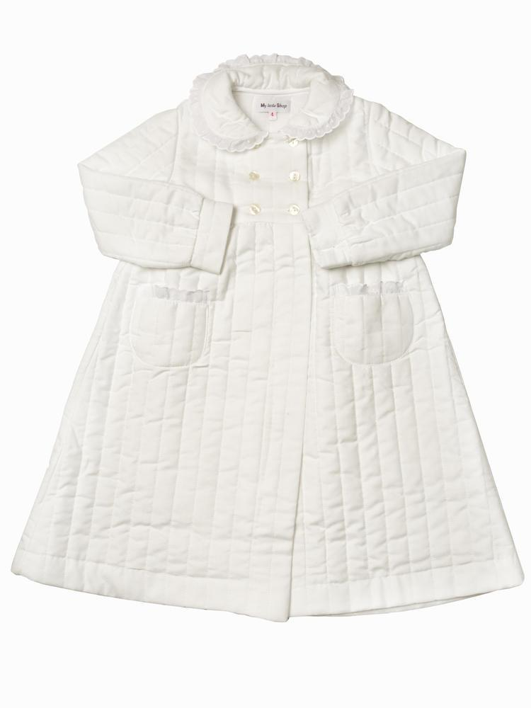 White padded Bathrobe for girls