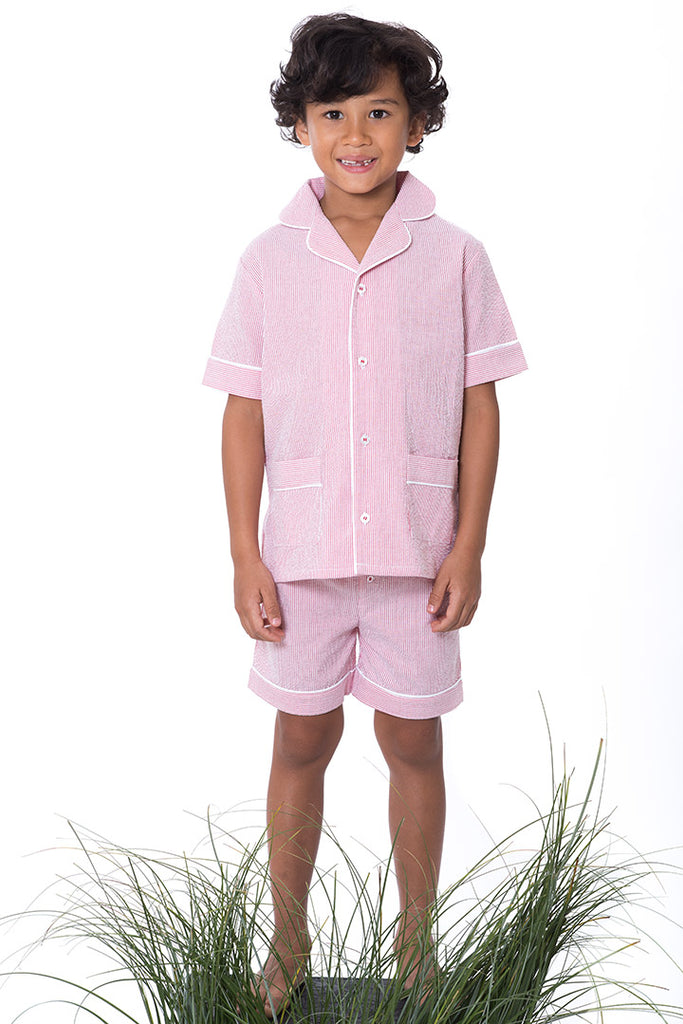 Romain Red Stripes Boys Pyjamas