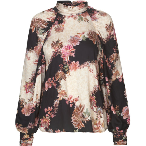 RAVN CLOTHING Fleur Top Blouse 123 Flowerprint Black