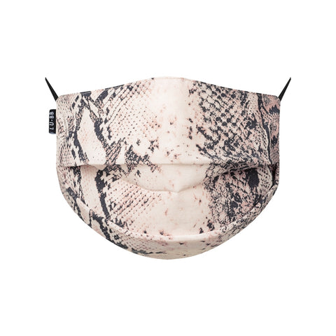 Pleat Print Mask - Snake Purple