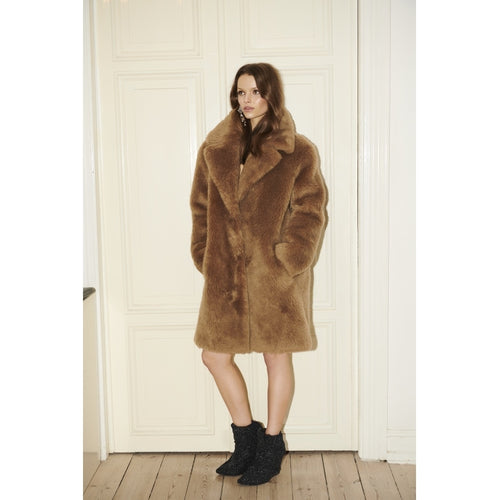 RAVN FUR Teddy Short Jacket Jacket 106 Light Brown