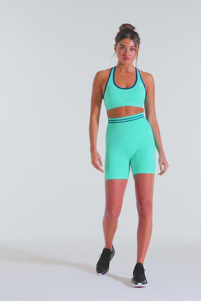 DYE Scrunch Seamless Shorts - Bright Teal