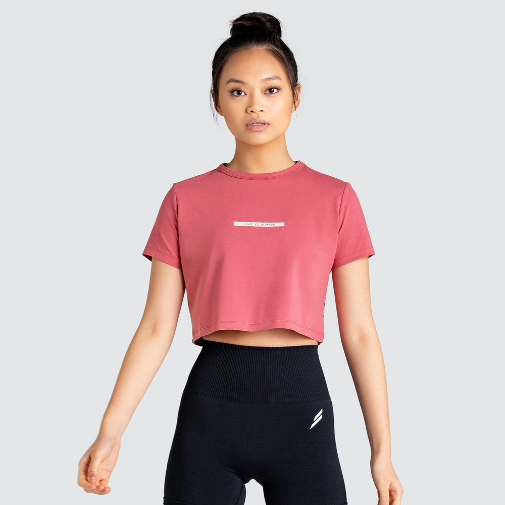 LYM Cropped Tee - Earth Red