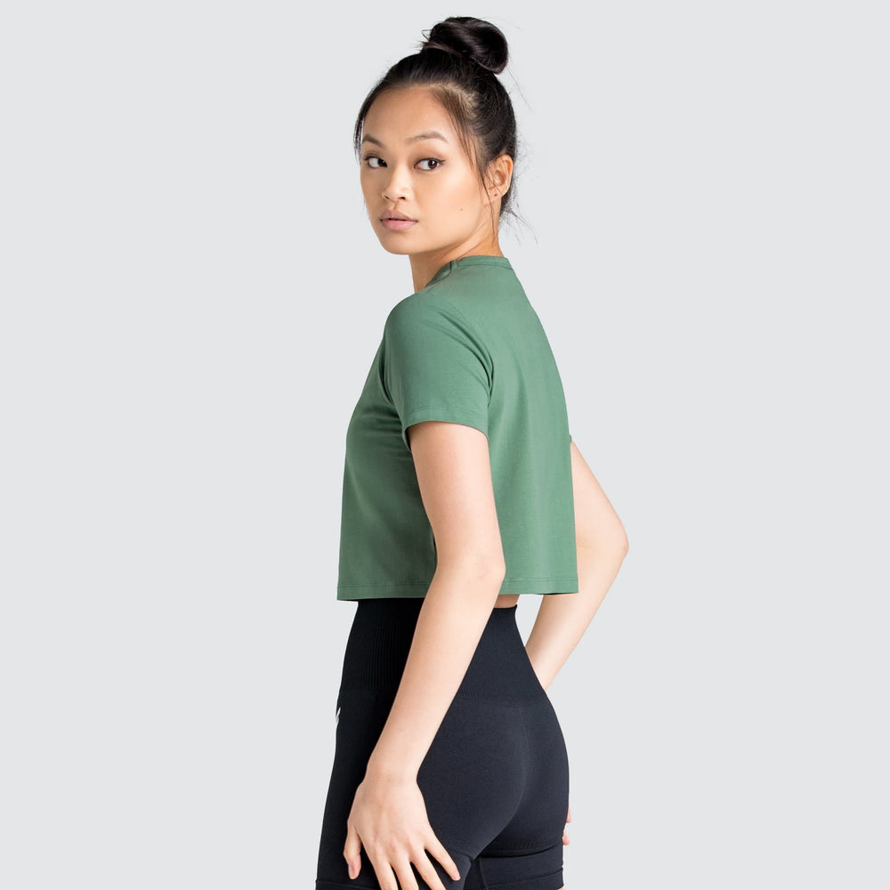LYM Cropped Tee - Evergreen