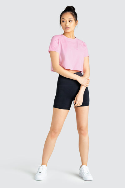 LYM Cropped Tee - Pink