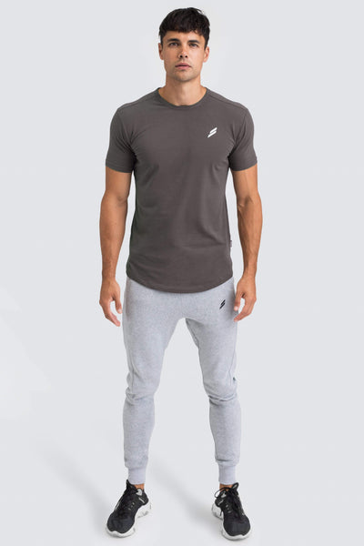Mark Drop Tee - Charcoal Grey