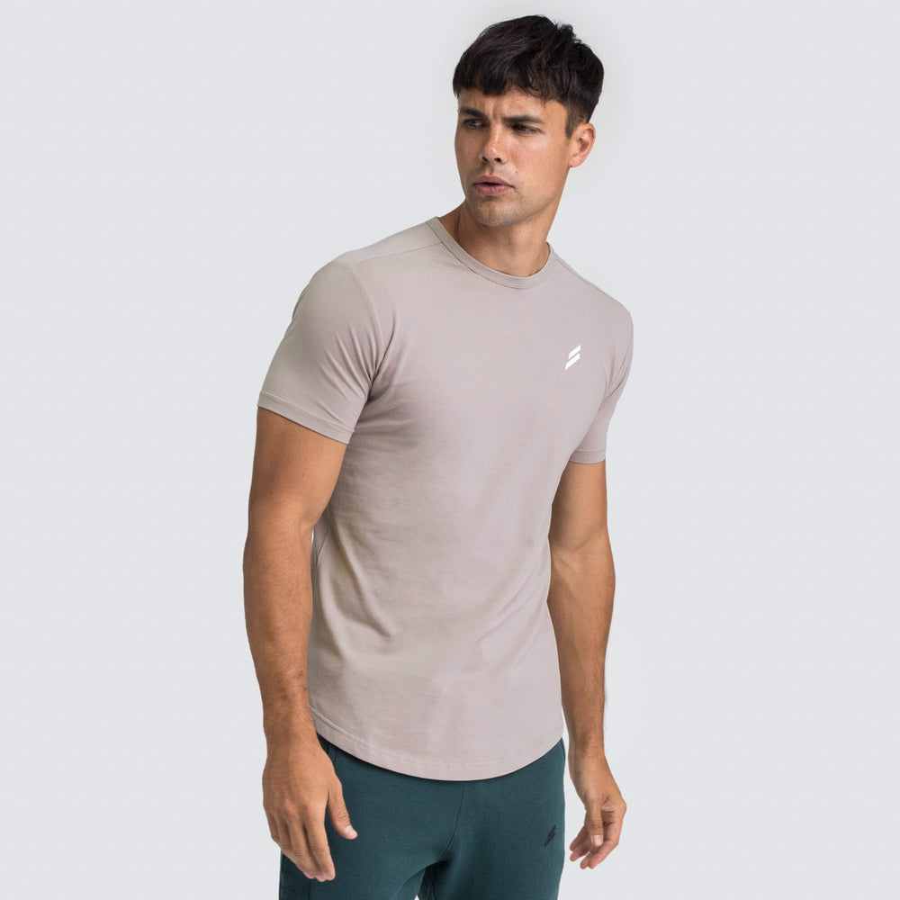 Mark Drop Tee - Taupe