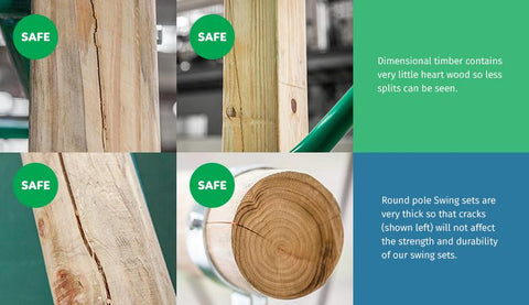 Safe Timber Wooden Outdoor Play Equipment