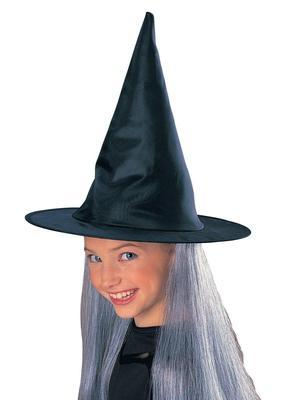Witch Hat With Hair Grey Child