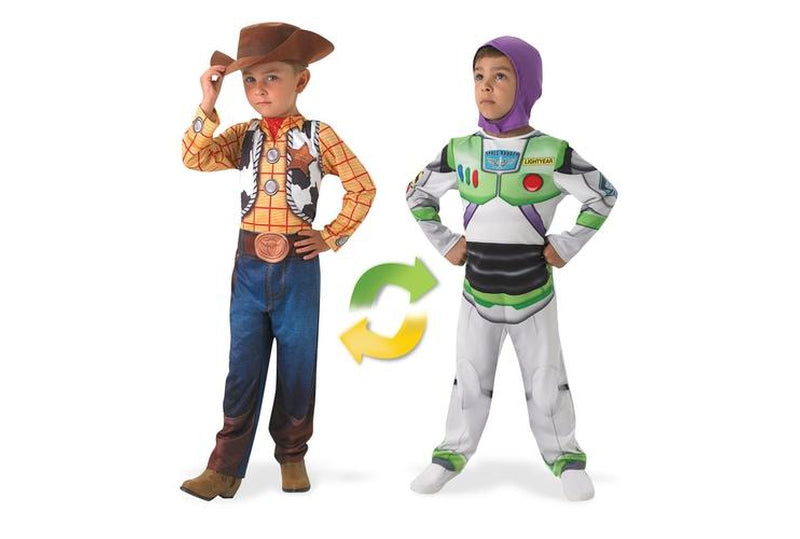 Buy Official Licensed Toy Story Costume for Kids - Reversible Woody To Buzz design