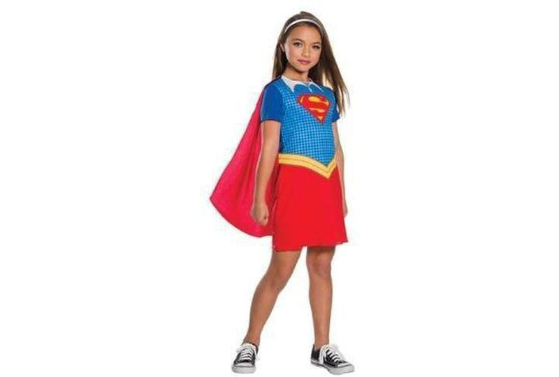 Shop Supergirl Costume Dress with Cape Australia Delivery