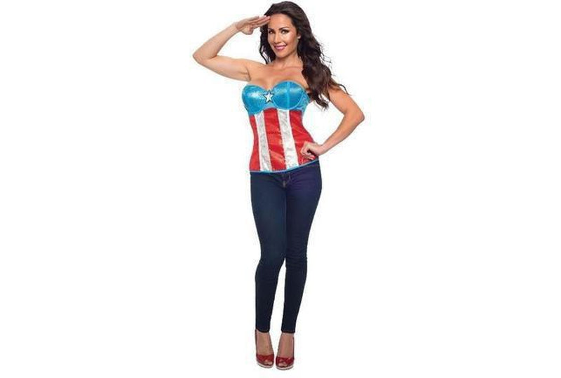 American Dream Sequined Corset Adult