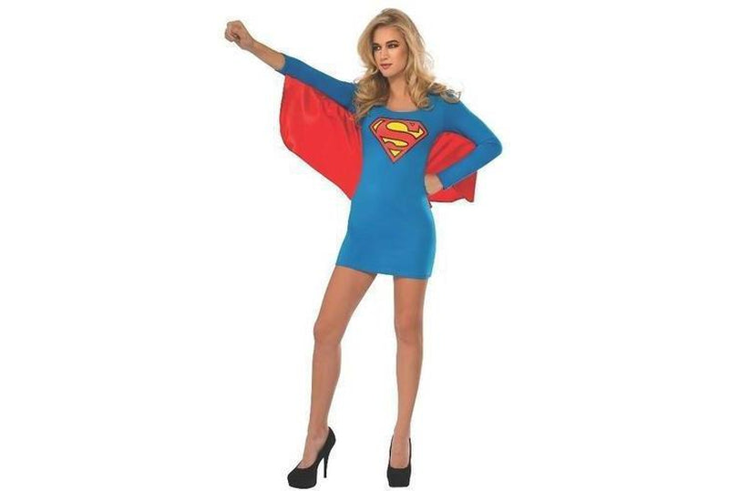 Supergirl Dress With Wings Adult