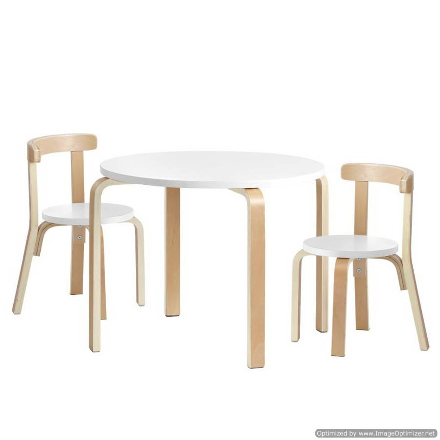Keezi Kids Round Table and Chair Set Study Desk Dining Wooden