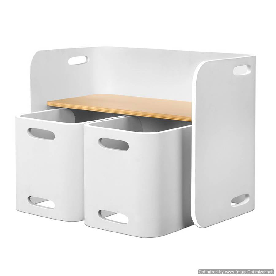 Furniture Keezi Kids Table and Chair Study Desk Set White