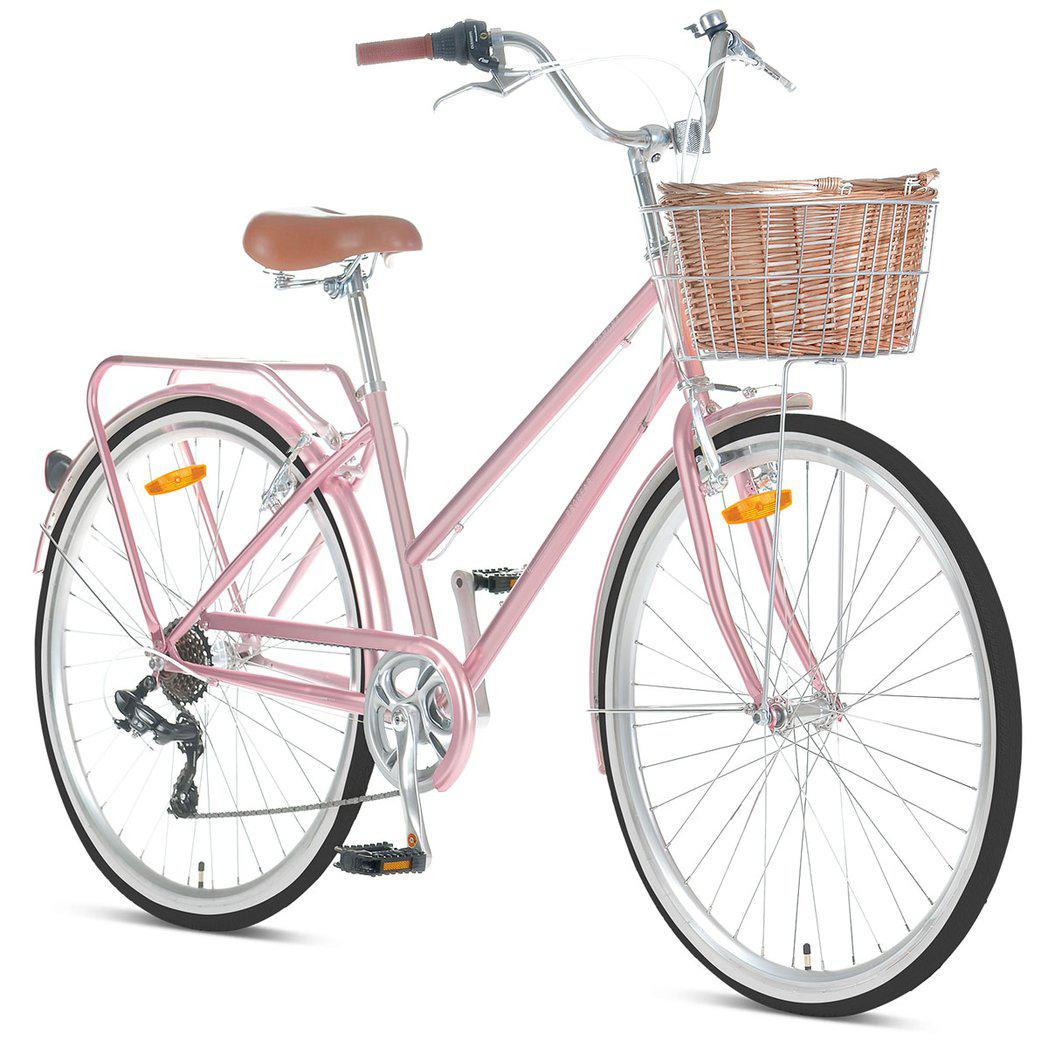 "Pomona Rose Gold Ladies 15"" Retro Bike"