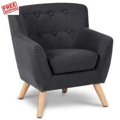 Keezi Kids Fabric Accent Armchair Black Kids Furniture