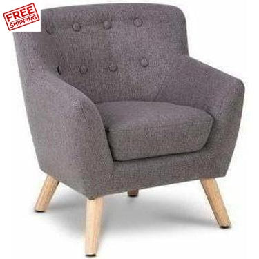 Keezi Kids Fabric Armchair Grey Kids Furniture