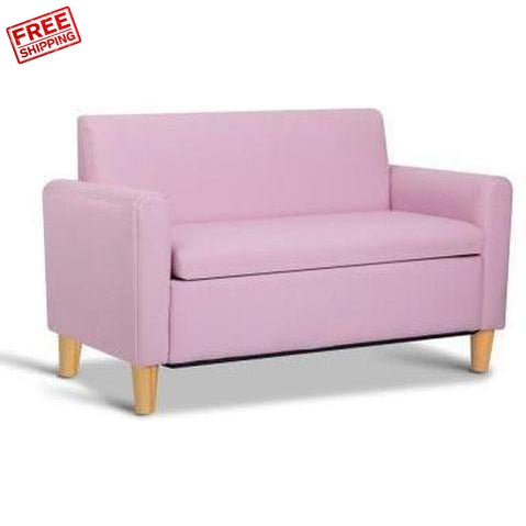 Kids Furniture Keezi Kids Double Couch Pink