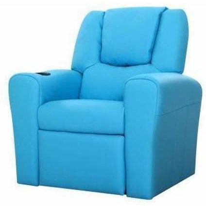 Furniture Artiss Kids Recliner Chair Blue