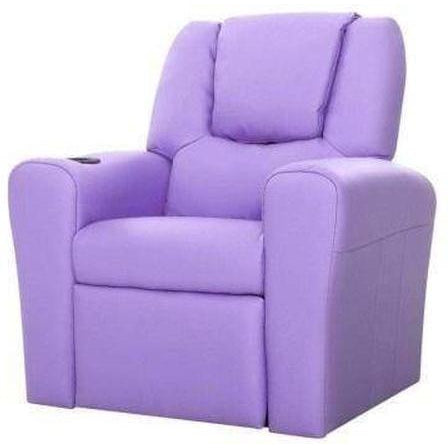 Furniture Artiss Kids Recliner Chair Purple
