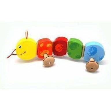 uy Wooden Toy Pull a Long Worm | Australia Delivery at Kids Mega Mart
