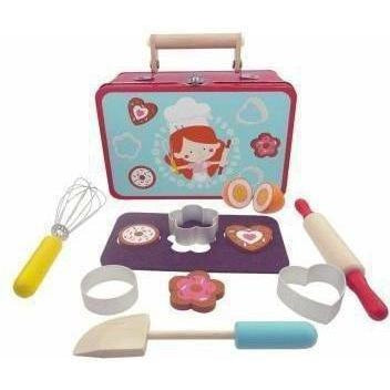 Baking Play set in Tin Suitcase