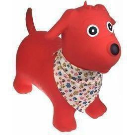 Bouncy Rider Red Dog with Scarf Toy for Kids