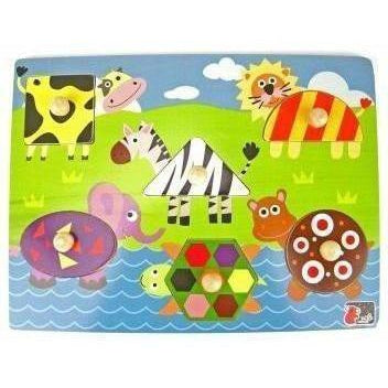 Shape Animal Peg Puzzle for Kids