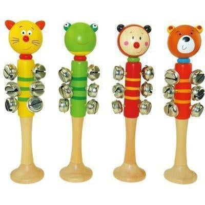 Animal Bell Stick with Base - Set of 4