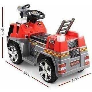 Outdoor Toys Rigo Kids Ride On Fire Truck Red Grey