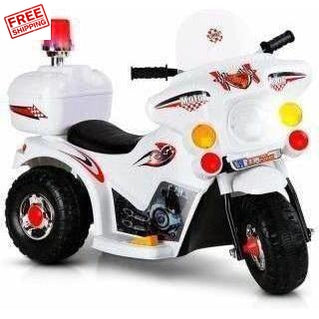 Outdoor Toys Rigo Kids Ride On Motorbike White