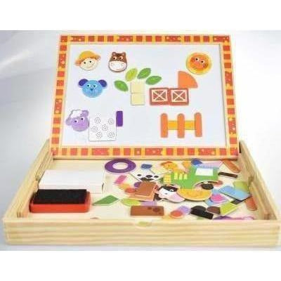 Farm Puzzle Magnetic Whiteboard Chalk Board