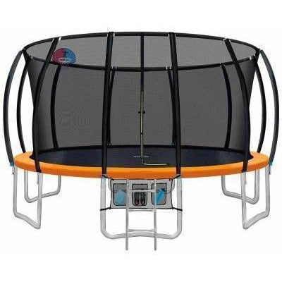 16FT Trampoline With Basketball Hoop Multi-coloured
