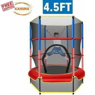 Kahuna Mini 4.5 FT Trampoline Red Blue