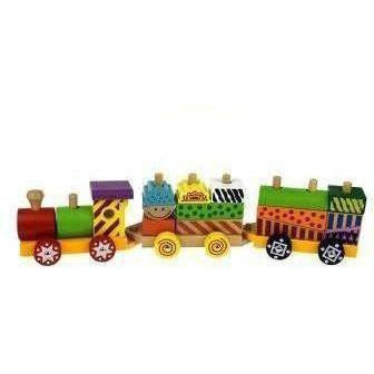 Wooden Block Train Toy for Kids