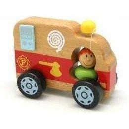 Fire Engine Toy for Kids Wooden