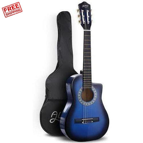 Alpha 34 Inch Acoustic Guitar 1/2 Size Blue