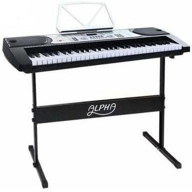 Audio & Video Alpha 61 Key Piano Keyboard Silver