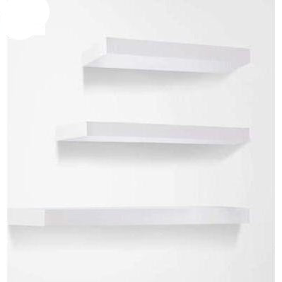 Furniture Artiss 3 Piece Floating Wall Shelves - White