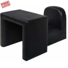 Furniture Artiss Kids Convertible Arm Chair Table Black