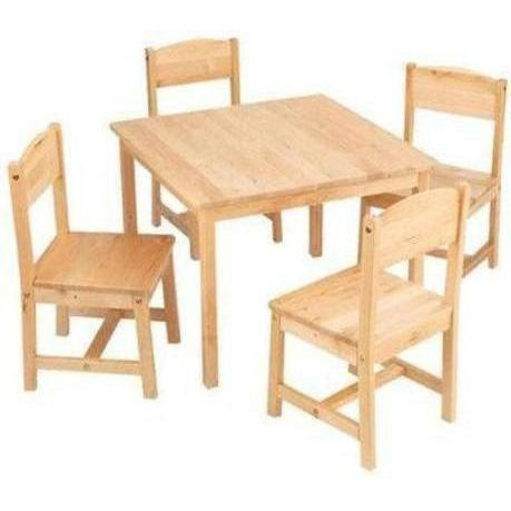 Furniture KidKraft Farmhouse Table & 4 Chairs Natural