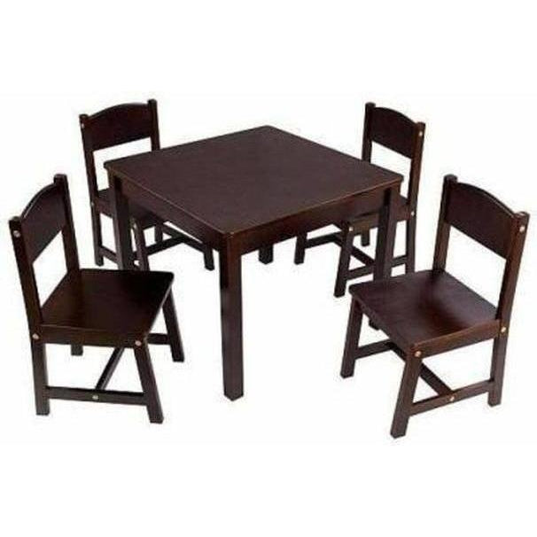 Furniture Kidkraft Farmhouse Table & Chair Set Espresso
