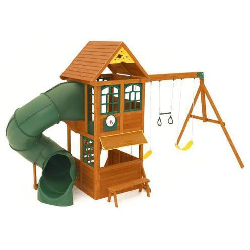 Buy Kidkraft Forest Ridge Wooden Swing Set with Slide Australia Delivery