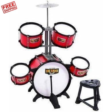 Keezi Kids Junior Drums Kit Red