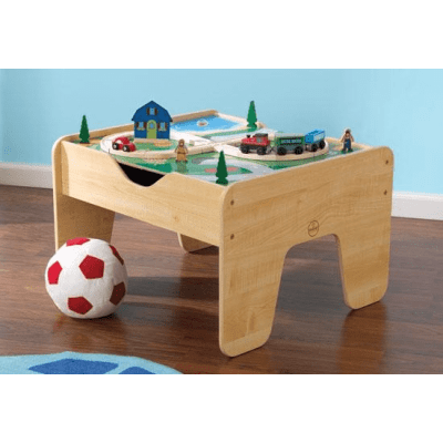 Kidkraft 2 in 1 Activity Table with Train Set, Blocks & Board