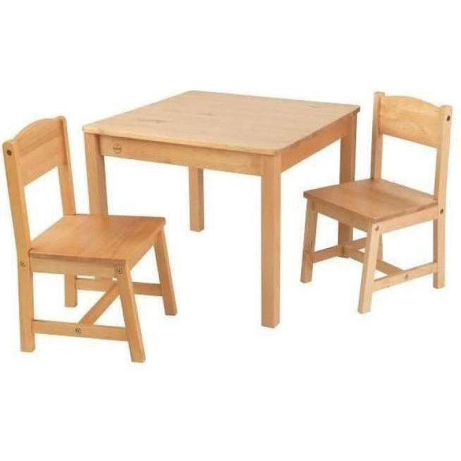 Kidkraft Aspen Table & 2 Chair Set - Natural