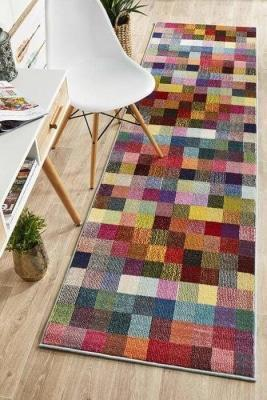 MODERN Gemini Modern 511 Multi Coloured Runner Rug