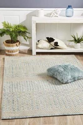 MODERN Levi Brook Blue Green Floor Rug