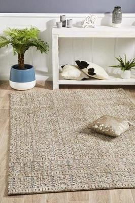 MODERN Levi Hannah Natural Grey Floor Rug
